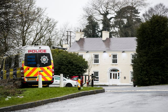 The scene of the incident in Cookstown, Co Tyrone
