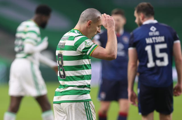 Celtic captain Scott Brown has struggled for form this season