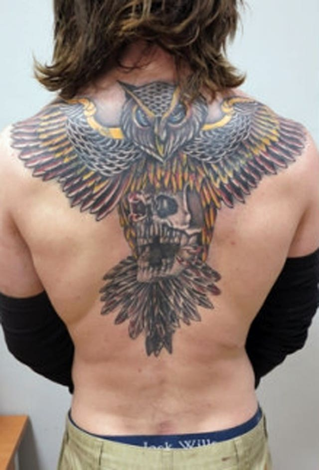 A tattoo on Shane O'Brien's back