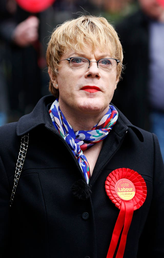 Comedian Eddie Izzard came fourth in the ballot for seats on the NEC