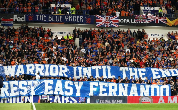 Rangers fans paid tribute