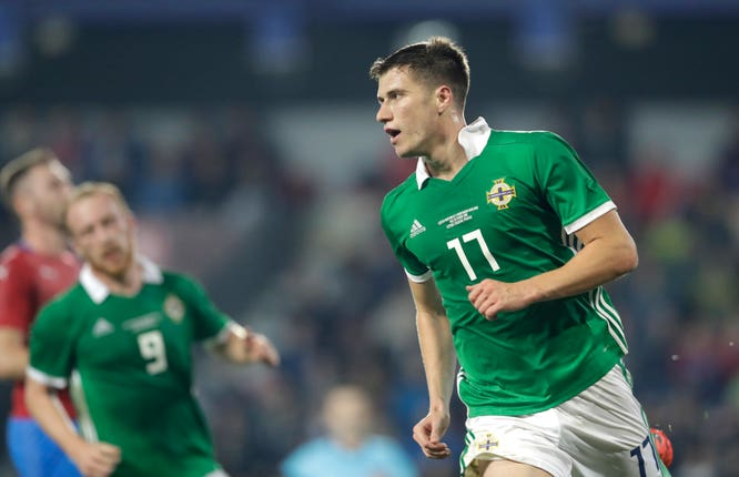 Paddy McNair scored twice for Northern Ireland