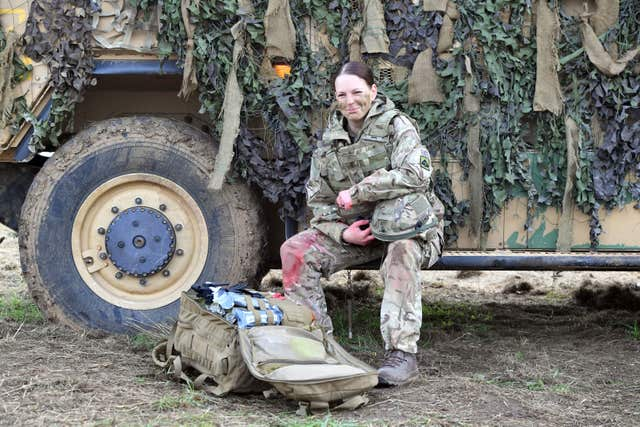 Royal Army Medical Cops medic Corporal Vicky Helsby