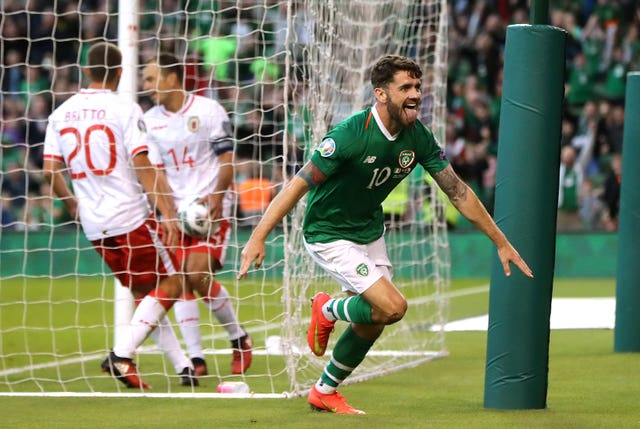 Robbie Brady scored against Gibraltar as the Republic of Ireland maintained top spot