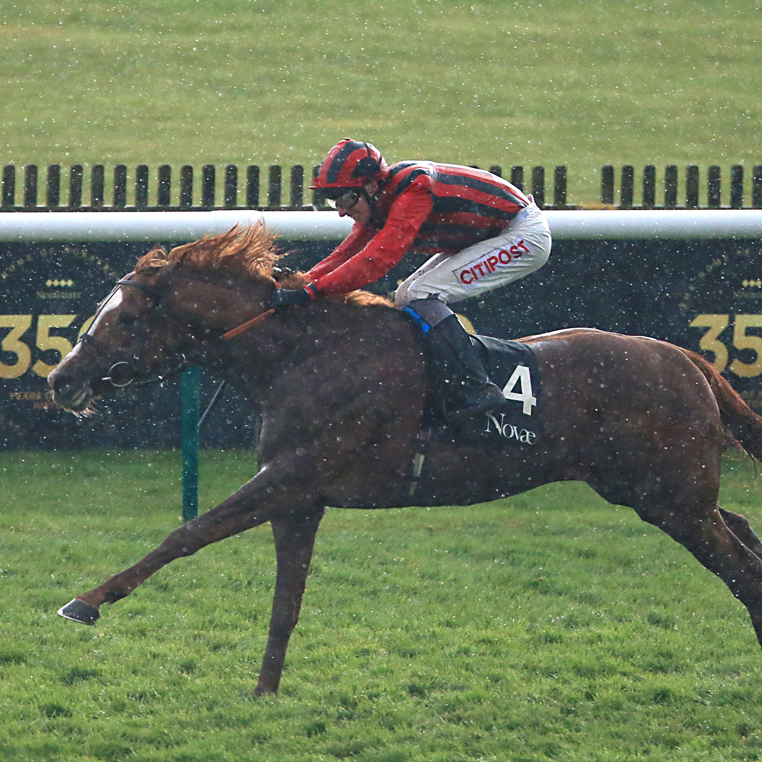 Stormy Antarctic winning the Craven Stakes