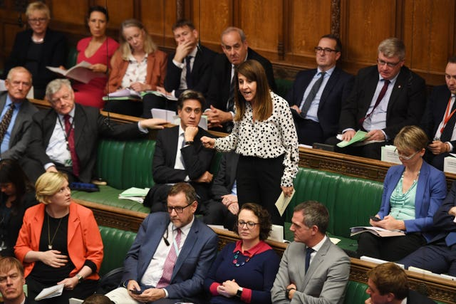Liz Kendall speaks in the Commons