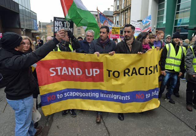Anti-racism rally in Glasgow