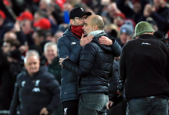 Jurgen Klopp and Liverpool have pulled well clear of Guardiola's City