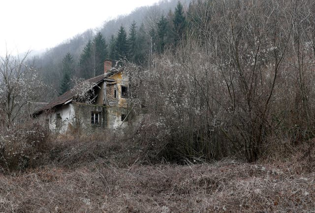 An abandoned house in the village of Blagojev Kamen, Serbia