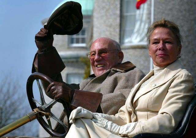 Moss and his wife, Lady Susie Moss, pictured at Goodwood House in 2006