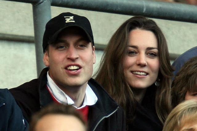 William and Kate at the rugby