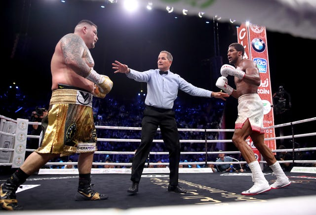 Ruiz was warned by the referee after hitting Joshua on the back of the head