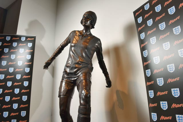 A statue of Lily Parr was unveiled at the National Football Museum last year (PA).