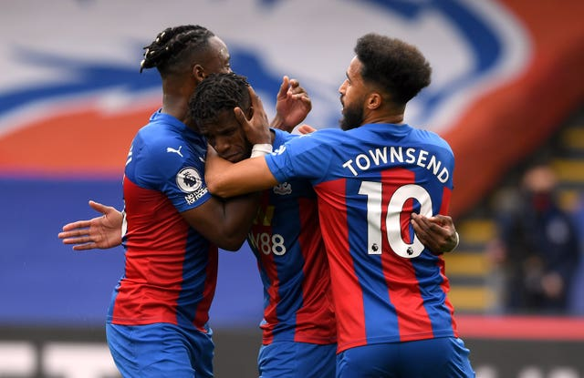 Wilfried Zaha (centre) gave Palace the lead