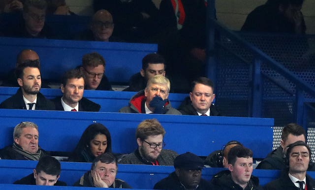 Wenger watched his side win their Carabao Cup semi-final tie with Chelsea from the Stamford Bridge press box having been banned from the touchline.