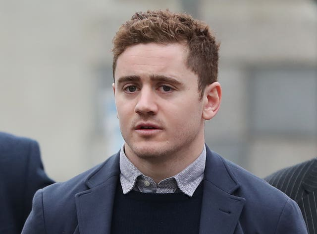 Paddy Jackson denies the charges at Belfast Crown Court (Niall Carson/PA)