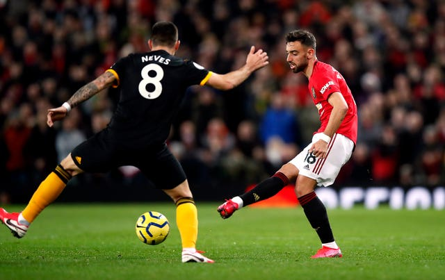Fernandes played in the role behind striker Martial