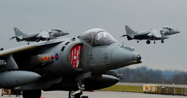 Harrier jump jets could take off and land vertically (Rui Vieira/PA)