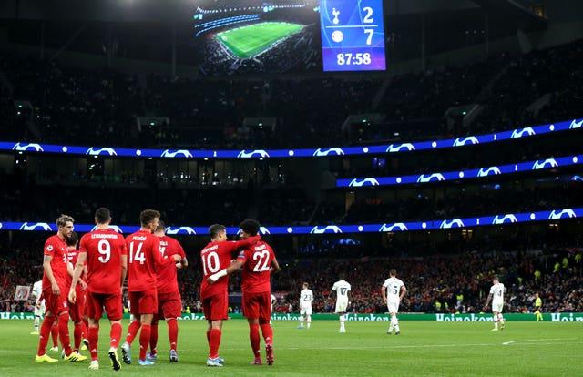Tottenham were hammered by Bayern Munich