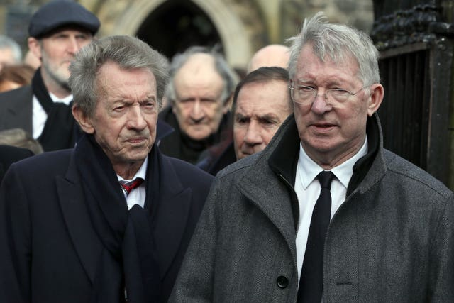 Denis Law and Sir Alex Ferguson