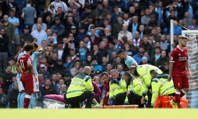 Ederson was carried off on a stretcher after an accidental clash with Sadio Mane in 2017