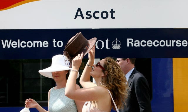 Racegoers heading to Royal Ascot