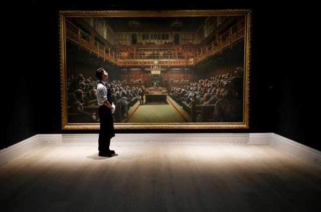 Banksy's Devolved Parliament up for auction
