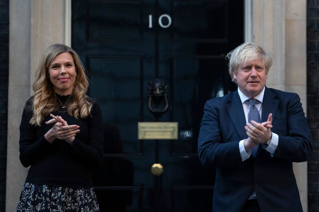 Carrie Symonds and Prime Minister Boris Johnson