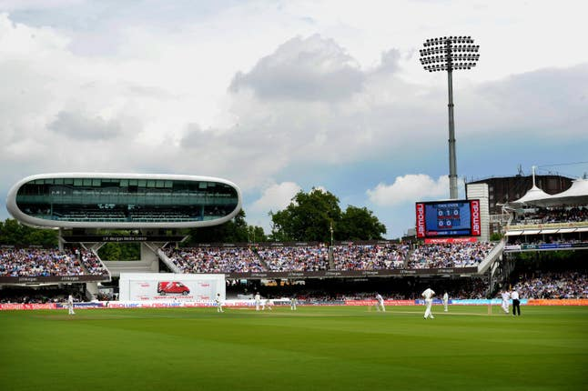 England in Test action at Lord's