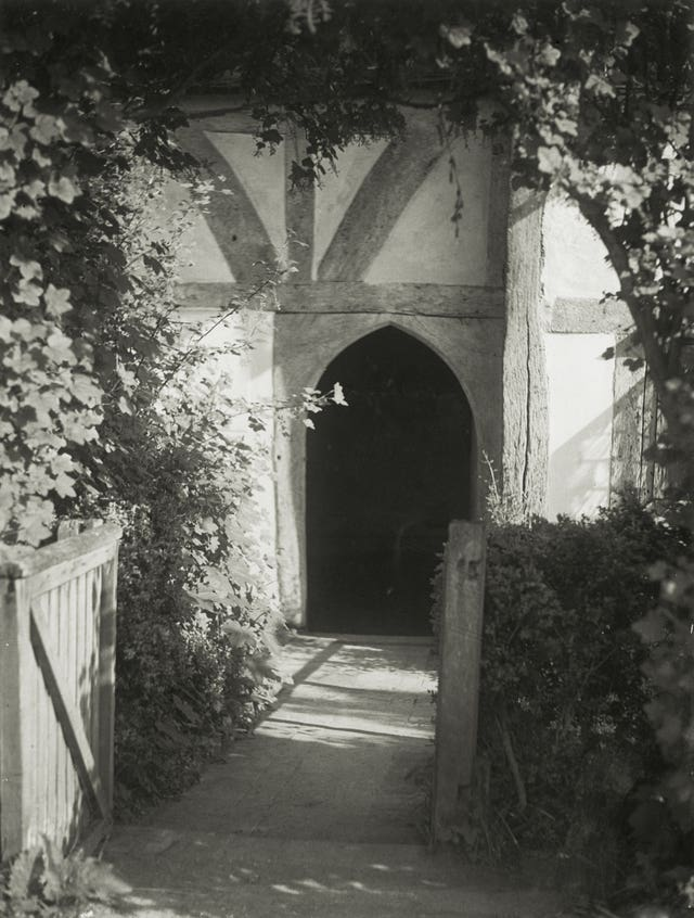 The north entrance at Alfriston in 1938