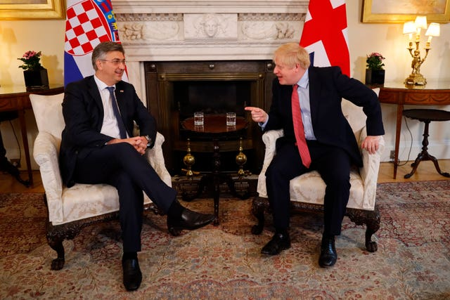 Croatian Prime Minister visit to UK