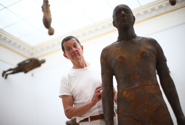 Sculptor Antony Gormley at the Royal Academy