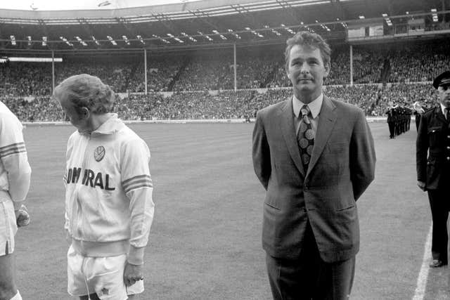Bremner had earlier lined up next to new manager Brian Clough, an image recreated in 'The Damned United'