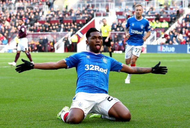 Rangers striker Alfredo Morelos was allegedly subjected to racist abuse during the match at Hearts