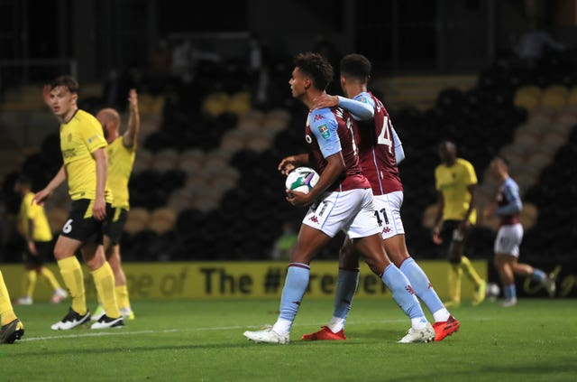 Ollie Watkins was on target with Aston Villa's equaliser