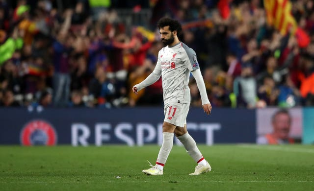 Mohamed Salah could not take his chance in the Nou Camp
