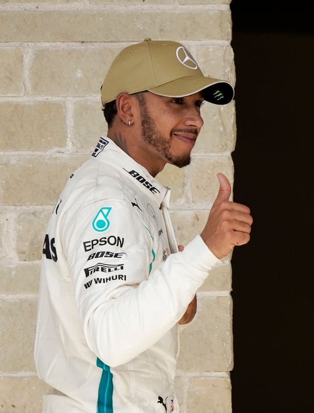 Lewis Hamilton smiles despite failing to secure the Formula 1 world title in Texas