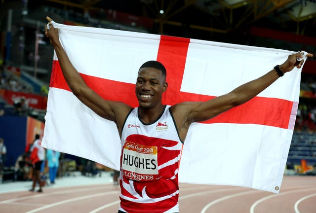England's Zharnel Hughes almost completed a lap of honour celebrating winning the 200 metres before learning he had been disqualified