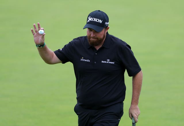 Overnight Open leader Shane Lowry was due to tee off his third round at 3.50pm.