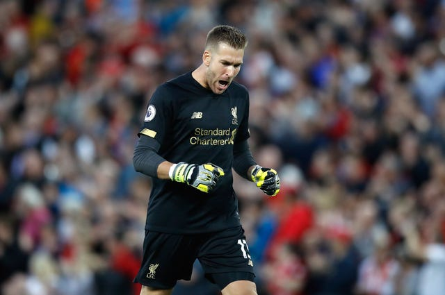 Adrian made his Liverpool debut in the first half against Norwich