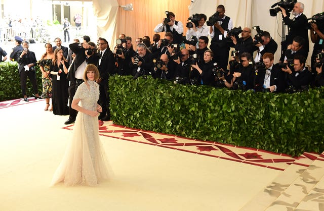 Anna Wintour looking regal as ever (Ian West/PA)