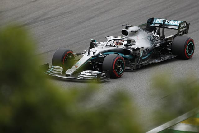 Mercedes driver Lewis Hamilton had to settle for fifth place in practice