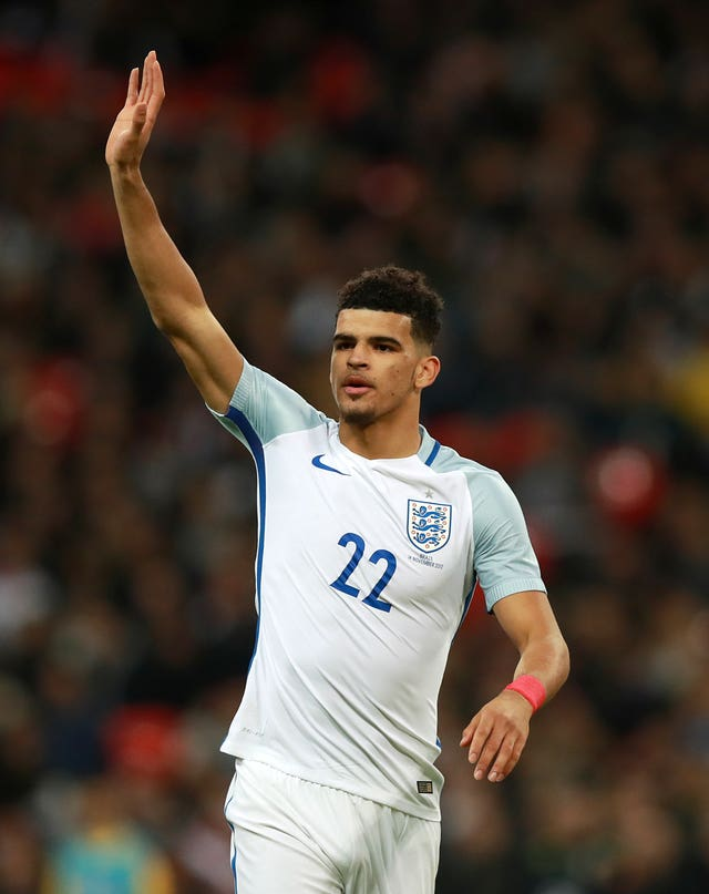 Dominic Solanke came off the bench against Brazil to make his senior England debut.