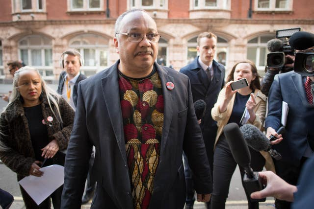 Labour party activist Marc Wadsworth arrives at the hearing (Stefan Rousseau/PA)