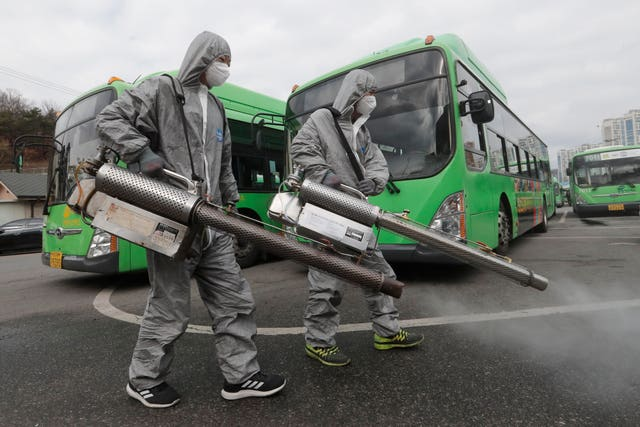 Buses disinfected