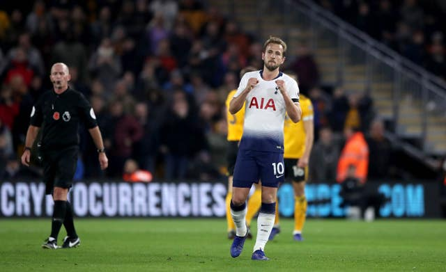Harry Kane was relieved at the final whistle at Molineux