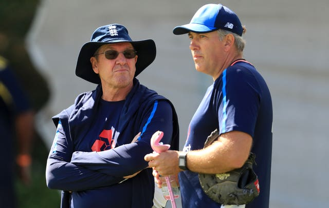 Chris Silverwood, right, succeeded Trevor Bayliss a couple of months ago (Mike Egerton/PA)