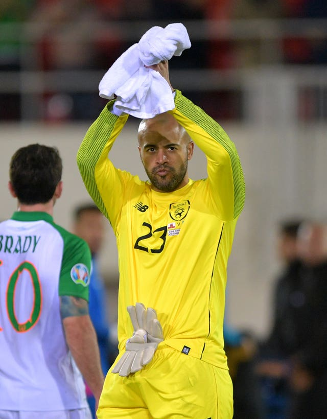 Republic of Ireland keeper Darren Randolph made a vital save in Gibraltar