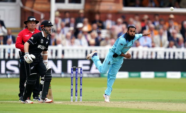 Adil Rashid in action against New Zealand