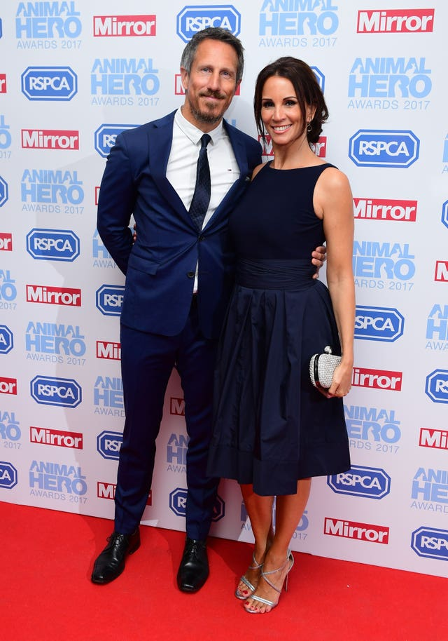 Nick Feeney and Andrea McLean (Ian West/PA)
